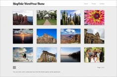 BlogFolio is a free Photography WordPress Theme (GPL) by Vandelay Design