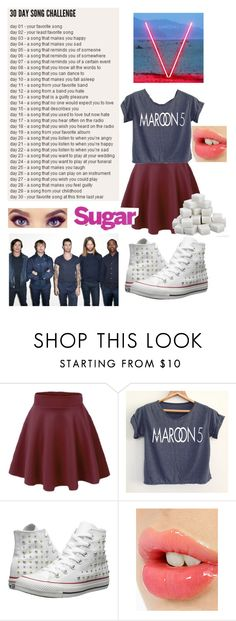 """day 2= Sugar by Maroon 5"" by fivesecondsof4australianidiots ❤ liked on Polyvore featuring Converse and Charlotte Tilbury"