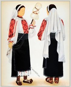 Peasant woman from Lelese - Huniedoara Transylvania. Traditional Art, Traditional Outfits, Nutcracker Costumes, Dress Illustration, Bolshoi Ballet, Folk Costume, Ethnic Fashion, Historical Clothing, Anthropology