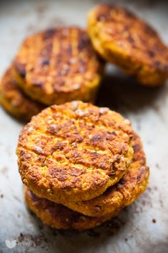 Carrot and white bean patties.