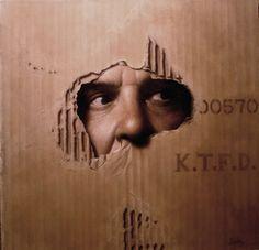 peintre américain Joshua Suda qui peint des tableaux hyper réalistes en s'appuyant sur des photographies