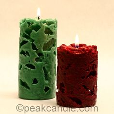 Fire and ice meet to create these beautiful candles. You Will Need: Pillar Wax (IGI 4625 works great!) Metal Candle Mold Wick Screw Mold Sealer Wick Holder Bar Pouring Pitcher Double Boiler or Wax Melter Crushed Ice Bucket or Sink Instructions: Wick your… Unique Candles, Beautiful Candles, Best Candles, Diy Candles, Pillar Candles, Sand Candles, Chandeliers, Candle Chandelier, Candle Lanterns