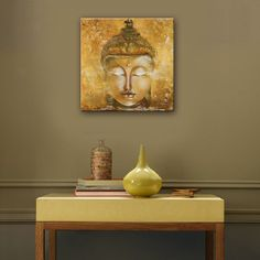 Modern Home Decor | MINI SIZE Free Shipping Hand Painting Oil Painting Buddha Decoration Painting One Pcs Home Decor Modern Wall Prints
