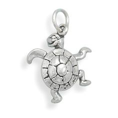 Sterling Silver Small Turtle Charm Measures - in Sterling Silver - FREE gift-ready jewelry box - This Item Does Not Ship With a Chain Jewelry For Her, Jewelry Gifts, Jewelry Accessories, Unique Jewelry, Etsy Jewelry, Small Turtles, Turtle Jewelry, Silver Brooch, Silver Jewelry