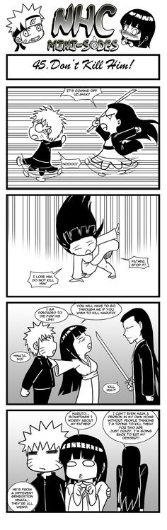 A short series about NaruHina, and inspired by my main NHC comic. NHC-minisodes 45 - Don't kill him! Naruto Sasuke Sakura, Naruto Shippuden Anime, Hinata Hyuga, Kakashi, Anime Naruto, Boruto, Sasunaru, Naruhina Doujinshi, Funny Naruto Memes