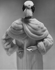 Hat by Emme, photograph by Erwin Blumenfeld for Vogue 1953.