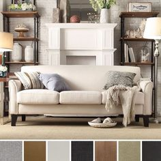This sofa is a great versatile piece for a modern  yet homey living room.