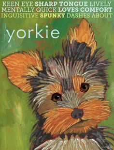 "Yorkshire Terrier No. 1 - Art Print 8.5x11"". $20.00, via Etsy."