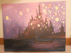 Disney Tangled Lantern Painting. $50.00, via Etsy.