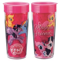 2962cd4501 My Little Pony Friendship is Magic Magic Friends 16 oz. Plastic Travel Mug