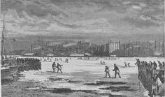 """New Yorkers Used To Walk Over The Frozen East River On """"Ice Bridges"""""""
