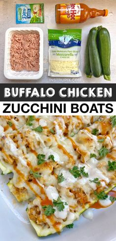 Chicken Zucchini Boats, Low Carb Recipes, Healthy Recipes, Healthy Zucchini, Recipes For Beginners, Mozzarella, Chicken Recipes, Dinner Recipes, Healthy Eating