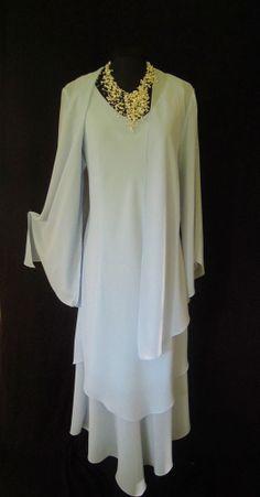 CATTIVA (NEW YORK) Light Powder Blue, Layered Dress and Jacket, size UK14/16