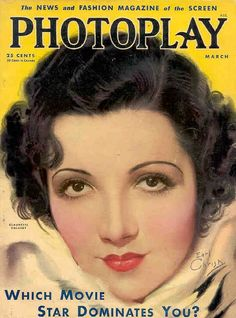 Claudette Colbert Magazine. Photoplay Magazine (Earl Christy)