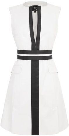 McQ By Alexander McQueen Tailored Monochrome Panel Dress