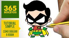 Como dibujar a Robin como dibujos kawaii faciles es el tema de nuestro vídeo de hoy. // How to draw Robin is the point of this video. Dibujar a Robin paso a ... Kawaii Drawings, Cartoon Drawings, Cute Drawings, Robin Dc, Superhero Villains, Felt Magnet, Step By Step Drawing, Cute Characters, Painting & Drawing