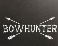 Boog-jacht of boogschieten Decal met Monogram door LGbyDesign