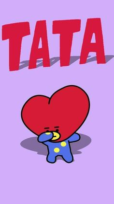 TATA is the character of V .From BT Planet, TATA is very curious about everything. Bts Wallpapers, Cute Cartoon Wallpapers, Bts Taehyung, Bts Bangtan Boy, Fanart Bts, Line Friends, Bts Chibi, Billboard Music Awards, Bts Fans