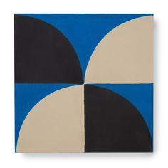 'Scallop' electric Blue/Black/Cream