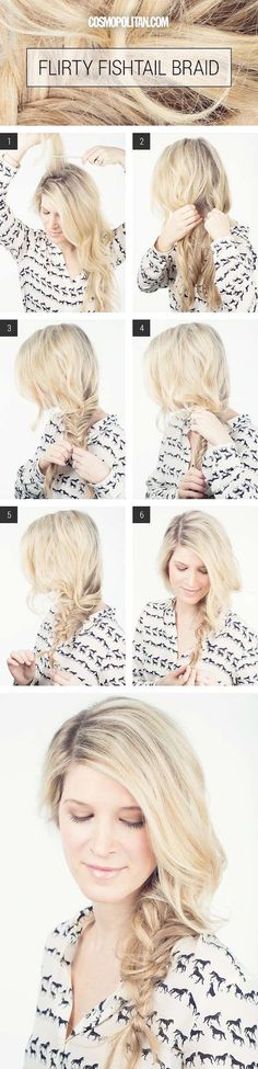 Beauty Hacks for Teens - Quick And Easy Fishtail Braid- DIY Makeup Tips and Hacks for Skin, Hairstyles, Acne, Bras and Everything in Between - Pictures and Video Tutorials for Girls of All Shapes and Sizes Whether You're Fit or Want to Lose Weight - Get in Shape for Summer with These Awesome Ideas - thegoddess.com/beauty-hacks-teens