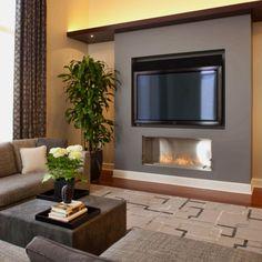 Livingroomfireplace under tv!
