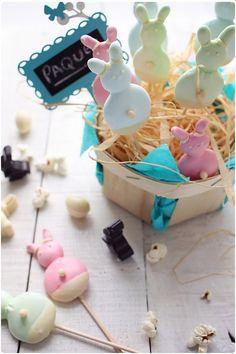 meringue bunny pops