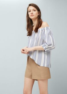 Off shoulder blouse - Women | MANGO USA