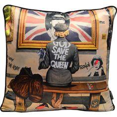 East Urban Home Dekokissen Luxury Cushions, Velvet Cushions, Save The Queen, Home Accessories, Punk, Pillows, Cool Stuff, Retro, House Styles
