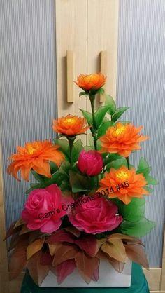 My handmade nylon flowers.