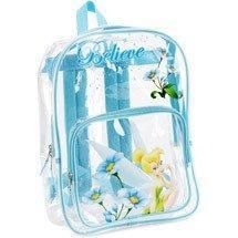 Cool Clear Tinkerbell Backpack with padded adjustable straps.