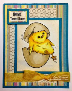 Just Hatched! for Lea Kimmel's #cre8time using #stampendous #stamps