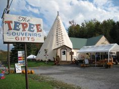 Situated right along New York's incredibly scenic Route The Tepee has been a favorite roadside attraction since New York Attractions, Roadside Attractions, Cherry Valley, Lake George Village, Summer Vacation Spots, Fun Winter Activities, Lake Life, The Great Outdoors, Wonders Of The World
