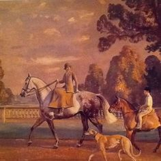 Painting by Sir Alfred Munnings, Mrs. Ronald Tree on Blue Ridge 1925.