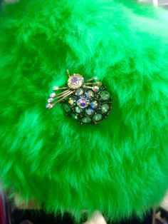 Emerald fluff with sparkly