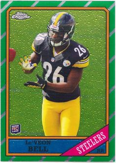 Le'Veon Bell (Rookie) Pittsburgh Steelers 2013 Topps Chrome (1986 Chrome) card #29