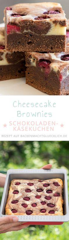 Superschokoladig und cremig: Diese Cheesecake Brownies (Brownie-Käsekuchen) sind die perfekte Mischung aus Schokokuchen und Frischkäsecreme!