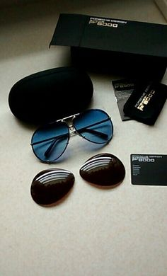 32a498da5d41 New Porsche Design P8478 UNWORN Unisex Interchangeable Lens Sunglasses 69mm