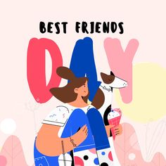 Best Friends Day Girl and Dog Eating Ice-Cream Square Video Post template — Design Online — Crello Illustration Amis, Illustration Design Graphique, Character Illustration, Digital Illustration, Graphic Illustration, Character Design Animation, Character Flat Design, Best Friend Day, Animated Icons