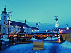 Sibiu Christmas Market in Romania