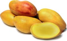 Valencia Pride mangoes have an unrivaled sweet, aromatic and floral flavor. It has a longer, narrower shape than most mangoes and does not have a green hue. The outer skin of the mango is a canary yellow with a pinkish blush. Valencia Pride's inner flesh is firm and fiberless. It is considered to have one of the finest flavors of all the late season mangoes.