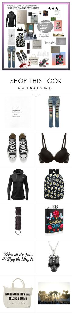 """""""You Gotta Have Chucks"""" by cheryl-muscoe ❤ liked on Polyvore featuring Junya Watanabe, Converse, Calvin Klein Underwear, The North Face, Vans, WALL, Alexander McQueen, Chucks, bukowski and HowiReallyFeel"""
