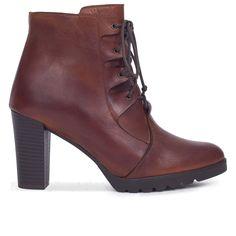 d5b80c5ab Botin mujer MARRÓN con cordones – Zapatos miMaO Online – miMaO ShopOnline  Zapatos De Piel