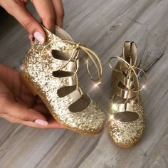 NEW! Lace up gladiators in gold. From sizes: 3-13 or EU 19-30 Available on our website  ittybittytoes.comittybittytoes