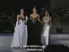 Miss Venezuela Mundo Ninibeth Leal, dentro del Top 3 del Miss World 1991 by Antoni Azocar