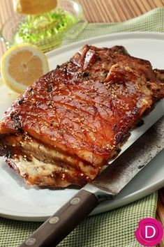 Recipes for Angels: Pork Spoon in the . - Recipes for chickpeas: Pork stove in the oven with crispy stone Greek Recipes, Pork Recipes, Chicken Recipes, Cooking Recipes, Healthy Recipes, True Food, Greek Cooking, Greek Dishes, Food Platters
