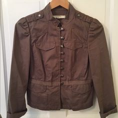 Ann Taylor Loft Military Jacket Ann Taylor Loft military inspired jacket, light weight, olive greenish/khaki, only worn a couple of times, sadly does not fit, excellent condition. LOFT Jackets & Coats Blazers