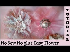 Circle Flower, no sew, Shabby Chic tutororial, fabric, Easy, hairpin DIY 5s2, by Crafty devotion - YouTube