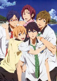 Kyoto Animation, Free!, Rin Matsuoka, Rei Ryuugazaki, Nagisa Hazuki, Makoto Tachibana, Haruka Nanase