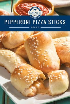 These soft and chewy breadsticks are filled with our Pepperoni String Cheese, making them perfect for lunch, snacks, appetizers, and grab-n-go dinners.