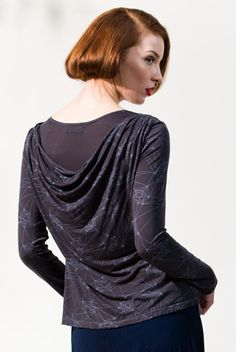 Double drape tee blouse from Stewart + Brown - would be great for fall! #RedressWANTs